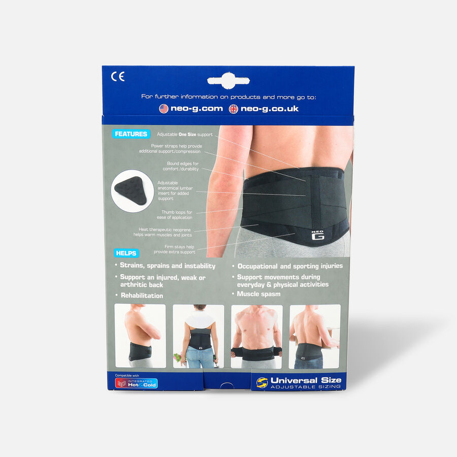 Neo G Back Brace with Power Straps, One Size, , large image number 1