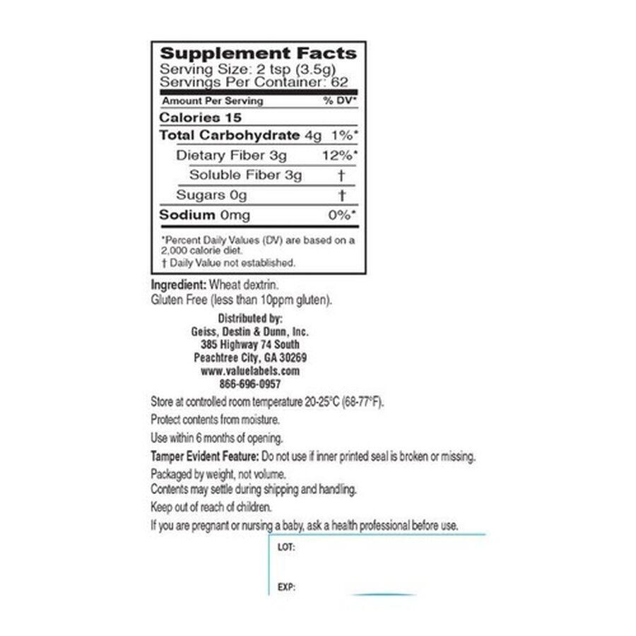 GoodSense® Best Fiber Powder Sugar/ Flavor Free 62 Servings, 8.6 oz, , large image number 1