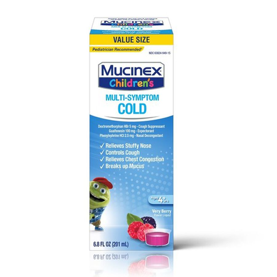 Mucinex Children's Multi-Symptom Liquid Cold, Very Berry, 4 oz, , large image number 0
