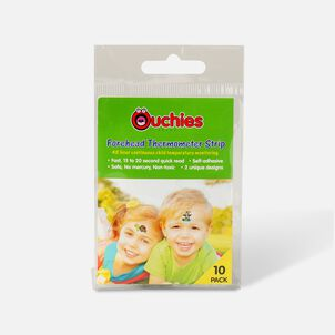 Ouchies Temperature Sticker Thermometer Strips for Kids, 10 Ct