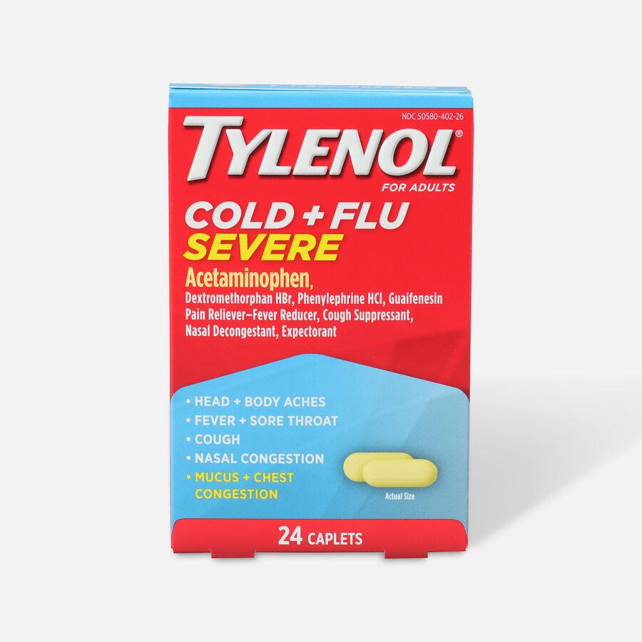 Tylenol Cold + Flu Severe Caplet, 24ct, , large image number 0