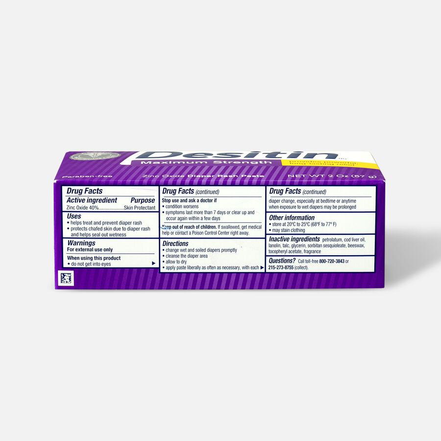 Desitin Maximum Strength Zinc Oxide Diaper Rash Paste, , large image number 5
