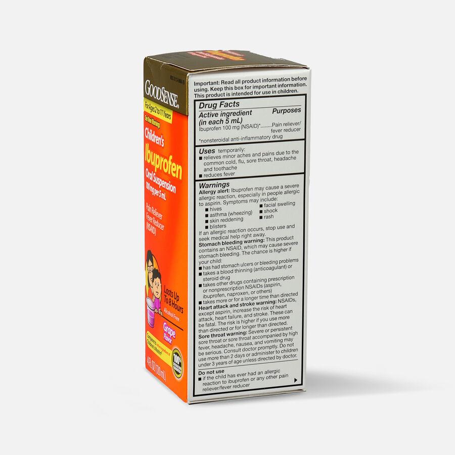 GoodSense® Children's Ibuprofen 100mg Oral Suspension, 4 fl oz, , large image number 6