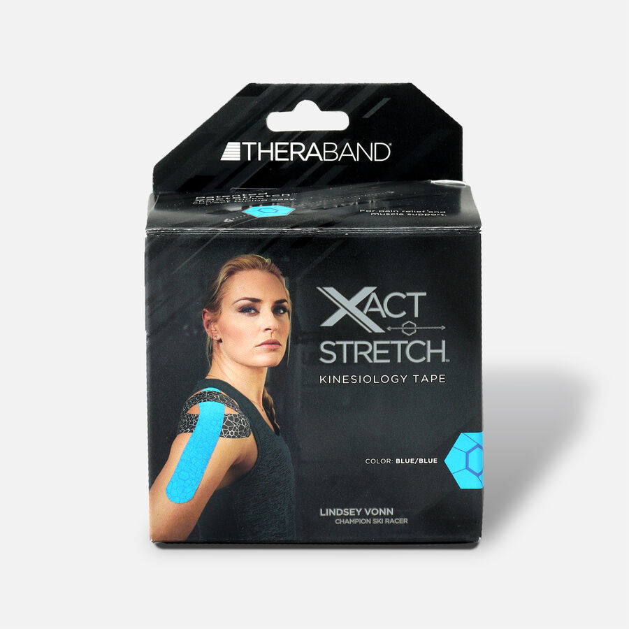 Theraband® Kinesiology Tape Precut Roll Blue/Blue, 20 ct, , large image number 0