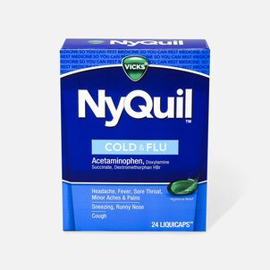 Vicks NyQuil Cold and Flu Liquicaps, 24 ct