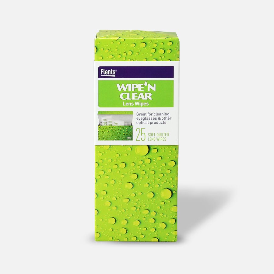 Flents Wipe 'N Clear Pre-moistened XL Lens Wipes, , large image number 0