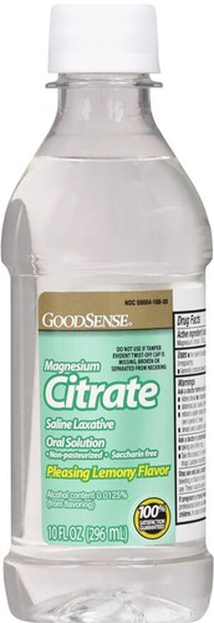 GoodSense® Cirtrate Magneisum Dye- Free Lemon, 10 oz