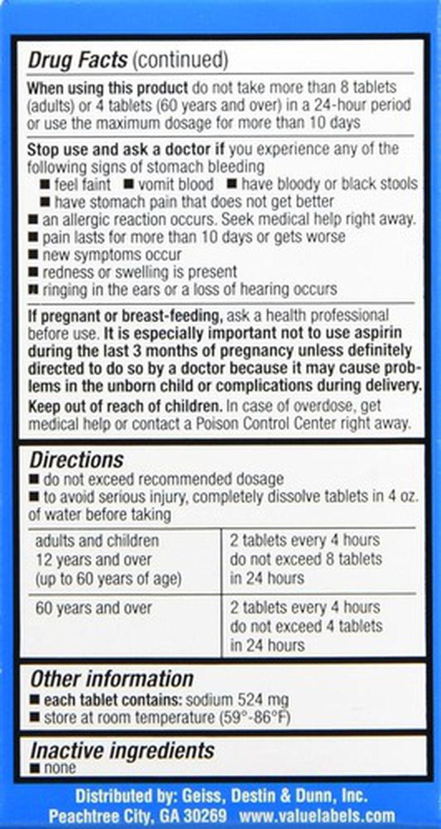 GoodSense® Effervescent Antacid & Pain Relief, 36 ct, , large image number 2