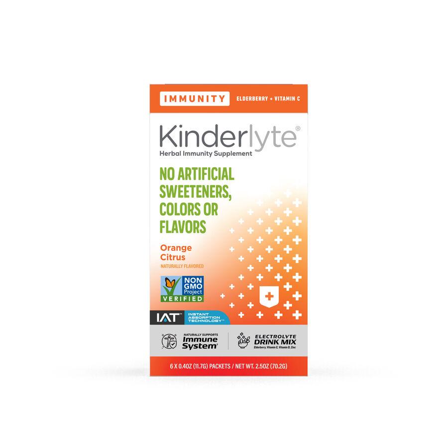 Kinderlyte Herbal Immunity Supplement Powder Orange Citrus, 6 Count, , large image number 0