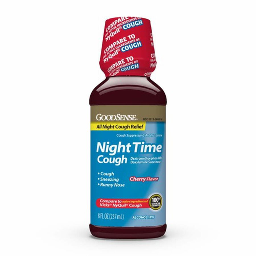GoodSense® Night Time Cough, Cherry 8 oz, , large image number 0