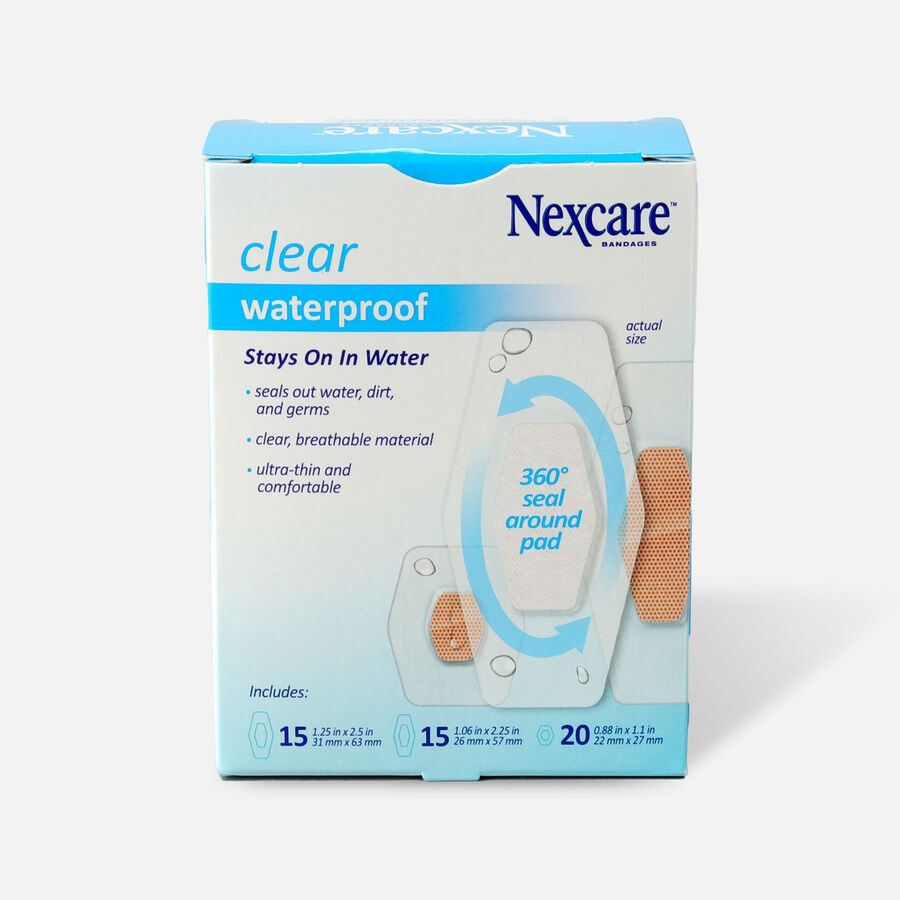 Nexcare Waterproof Clear Bandage, Assorted Sizes, , large image number 1
