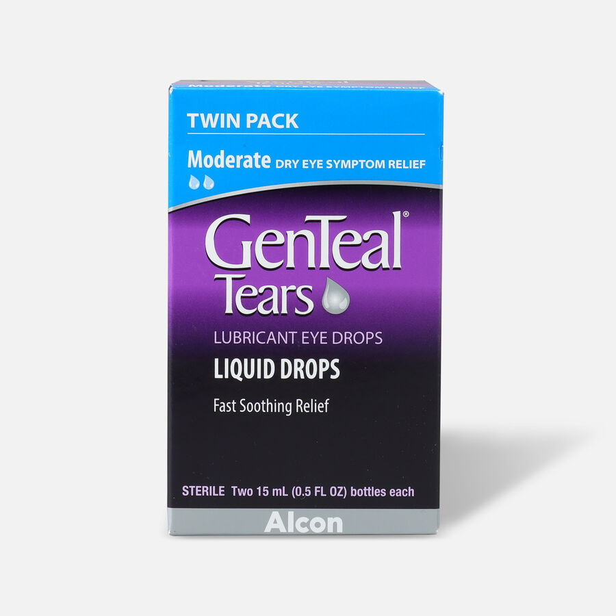 GenTeal Tears Moderate Relief Lubricant Eye Drops, Twin Pack, , large image number 0