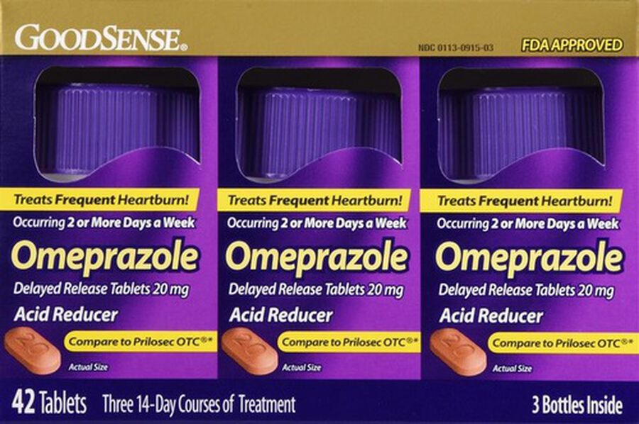 GoodSense® Omeprazole 20 MG Delayed Release Tablets, 42 ct ( 3 Bottles of 14 ct), , large image number 0