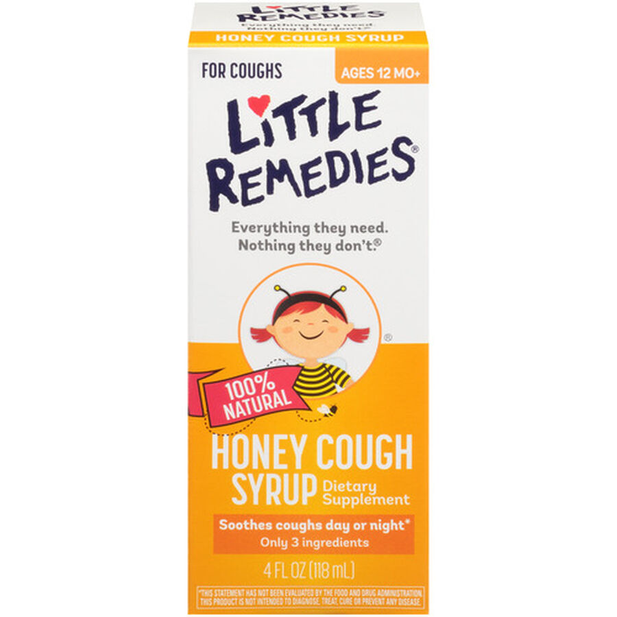 Little Colds Honey Cough Syrup, 4 oz, , large image number 0