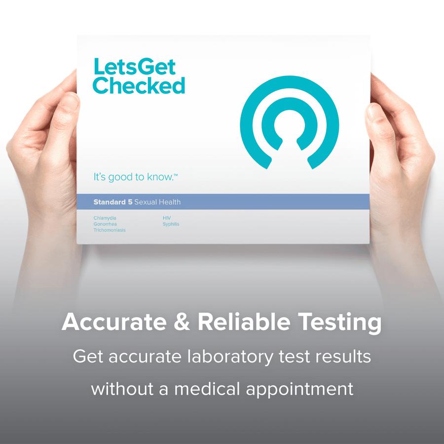 LetsGetChecked Standard 5 at Home STD Test, , large image number 5