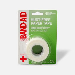 """BAND-AID® HURT-FREE® Paper Tape, 1"""" x 10yds - 1 roll"""