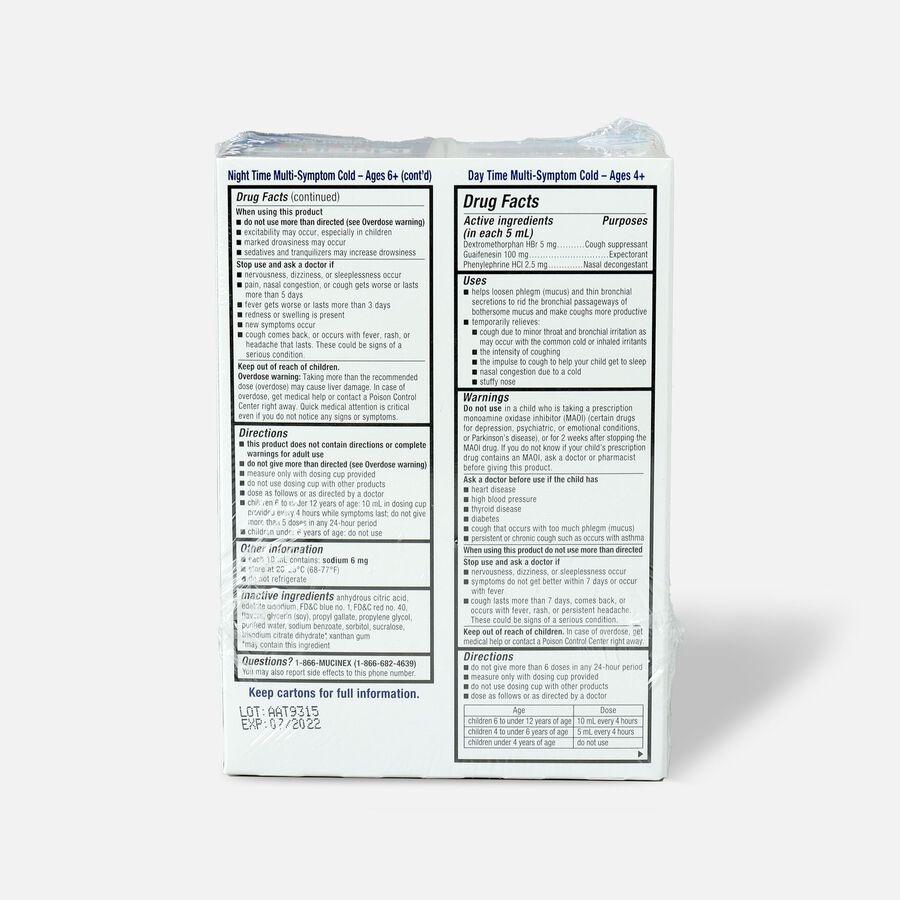 Mucinex Children's Multi-Symptom Liquid Day Night 4 oz - 2-Pack, , large image number 1