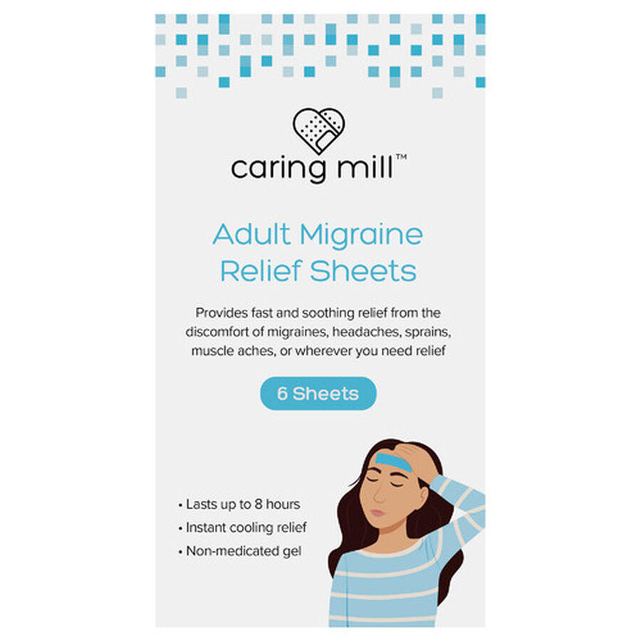 Caring Mill® Adult Migraine Relief Sheets, , large image number 0