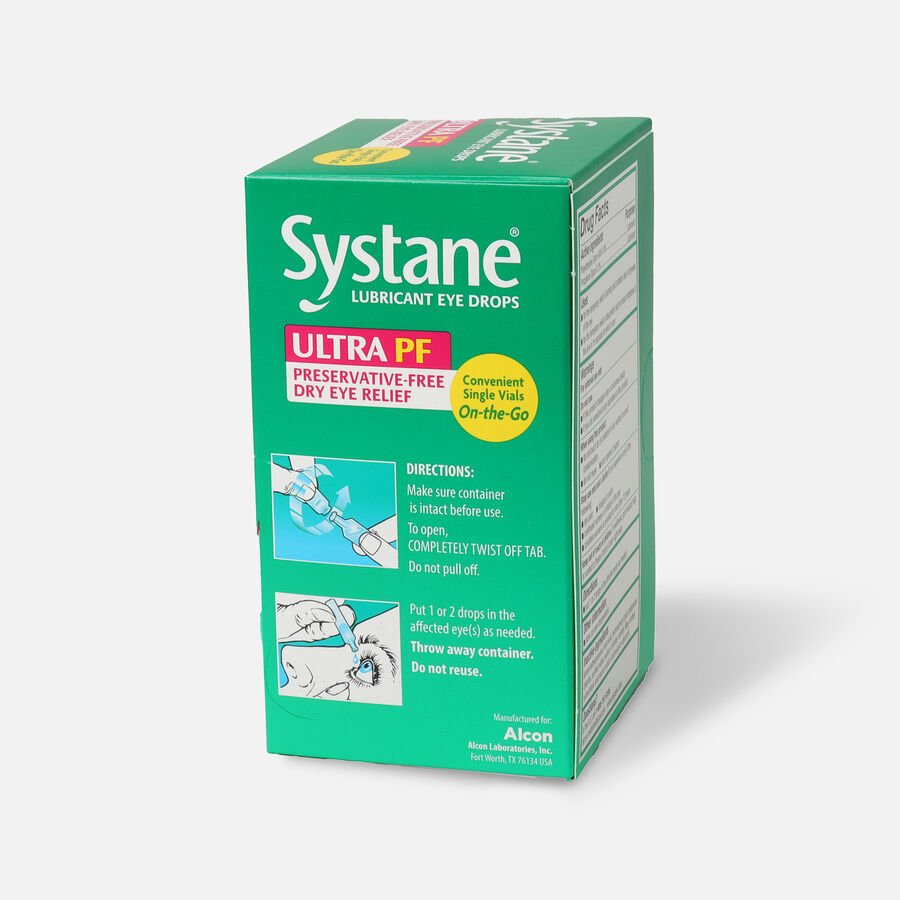 Systane Ultra Preservative Free Lubricant Eye Drops, 60 ct, , large image number 2