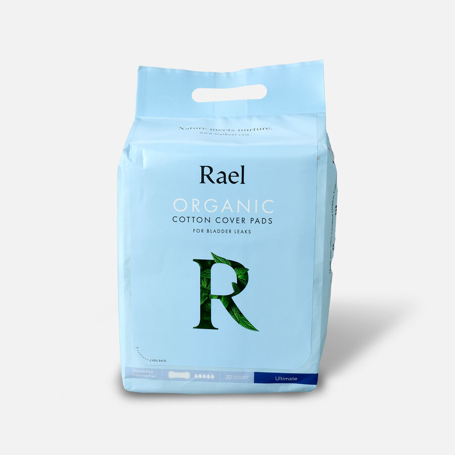Rael Organic Cotton Cover Pads for Bladder Leaks, Ultimate, 20ct, , large image number 0