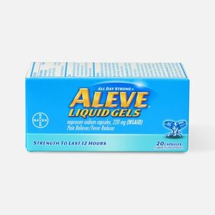 Aleve Liquid Gels Pain Reliever/Fever Reducer, 20 ea