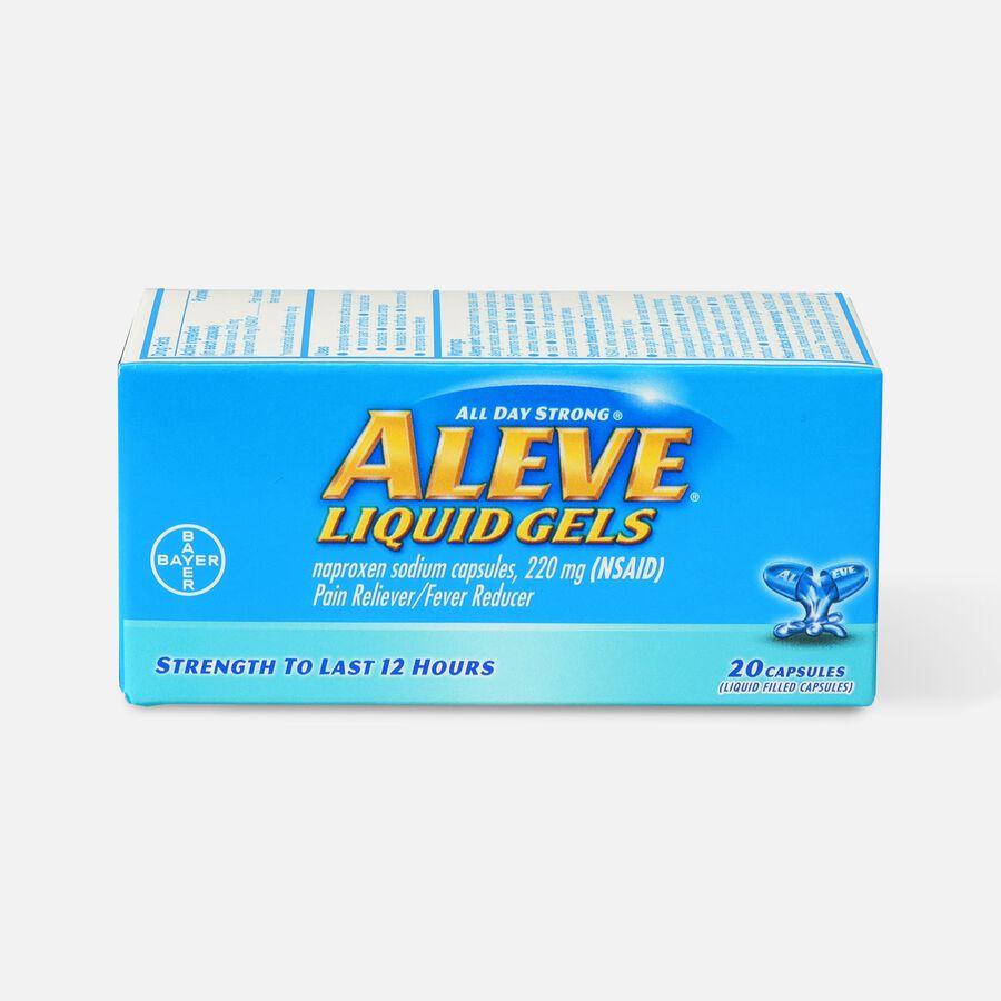 Aleve Liquid Gels Pain Reliever/Fever Reducer, 20 ea, , large image number 0