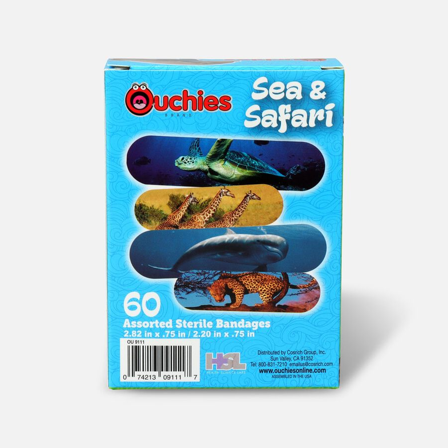 Ouchies Sea and Safari Bandages, 60ct, , large image number 1