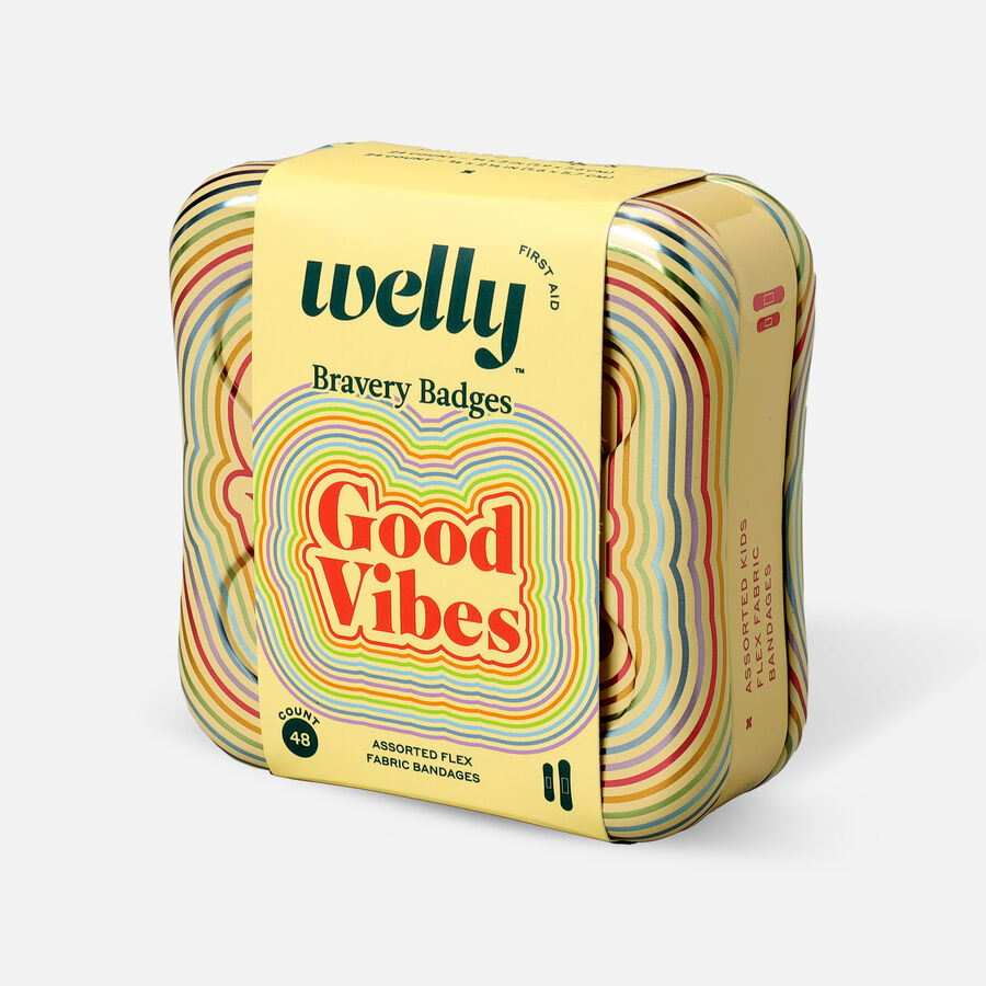 Welly Bravery Badges Good Vibes Assorted Flex Fabric Bandages - 48ct, , large image number 2