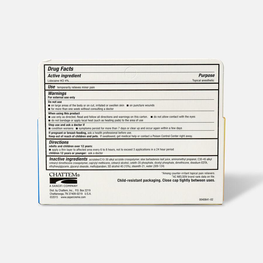 Aspercreme Lidocaine Creme, 2.7 oz., , large image number 1