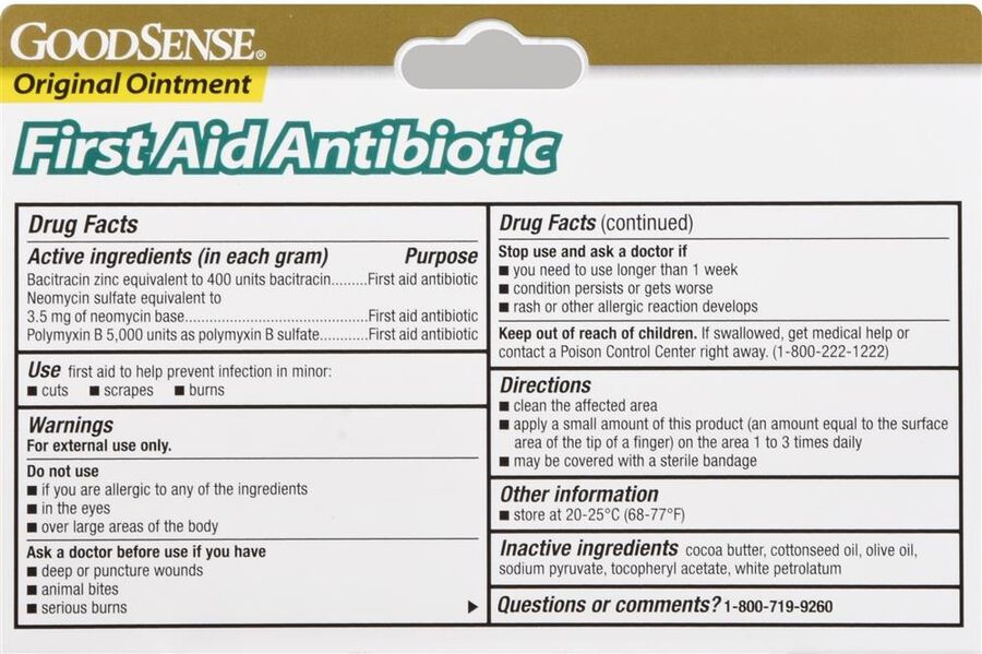 GoodSense® Original First Aid Antibiotic Ointment 1 oz, , large image number 1