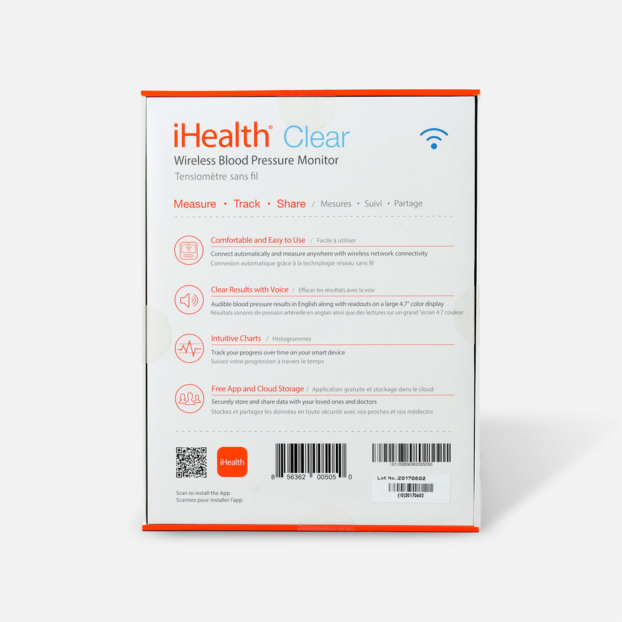 iHealth Clear Wireless Blood Pressure Monitor, , large image number 1