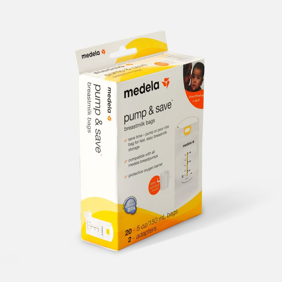 Medela Pump & Save Breast Milk Bags, 20 pack, , large image number 2