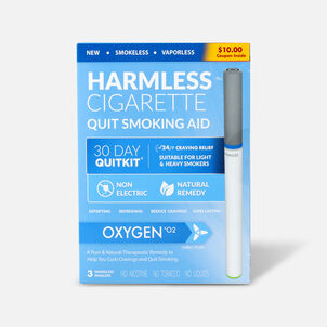 Harmless Cigarette Quit Smoking Aid, 30 Day Quit Kit, Oxygen