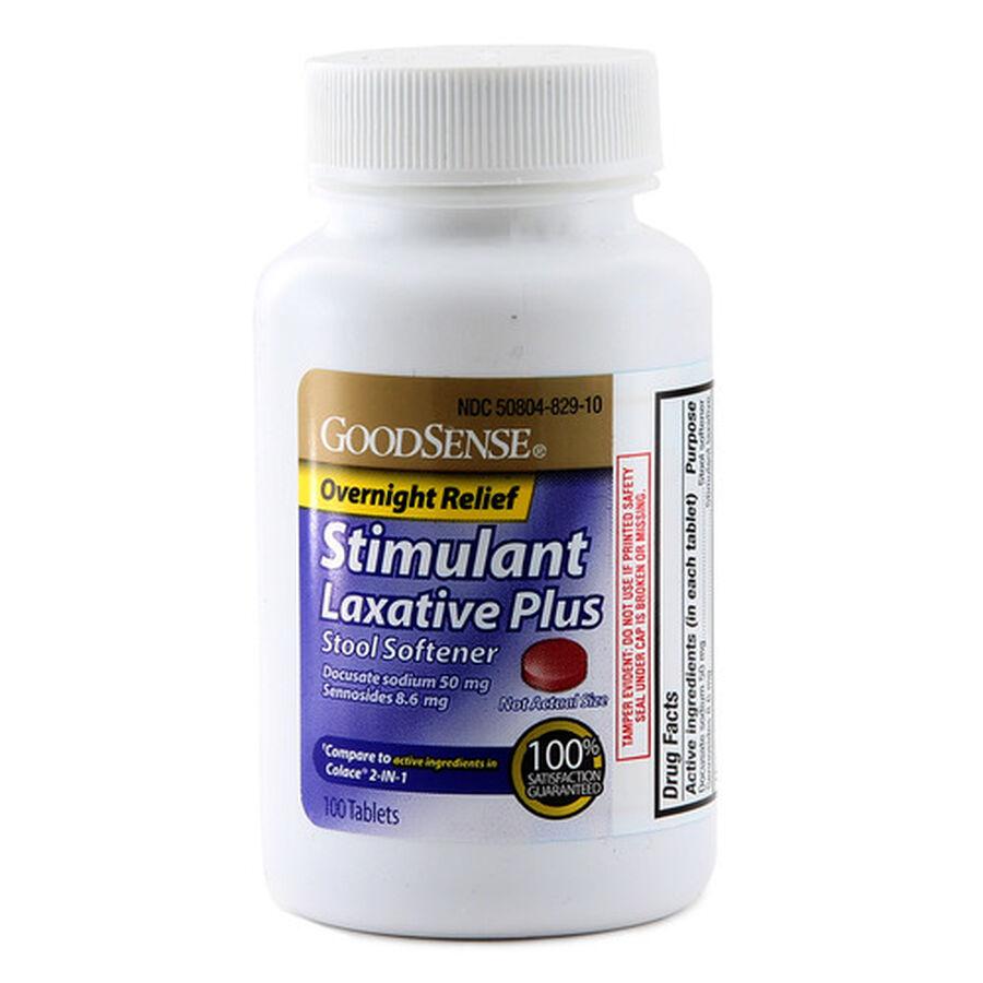 GoodSense® Stimulant Laxative + Stool Softner Overnight Relief Tabs, 100 ct, , large image number 0