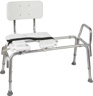 DMI® Sliding Transfer Bench Shower Chair with Cut-Out Seat