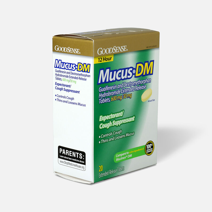 GoodSense® Mucus DM, Extended-Release Tablets, 600 mg/30 mg, 20 ct, , large image number 3