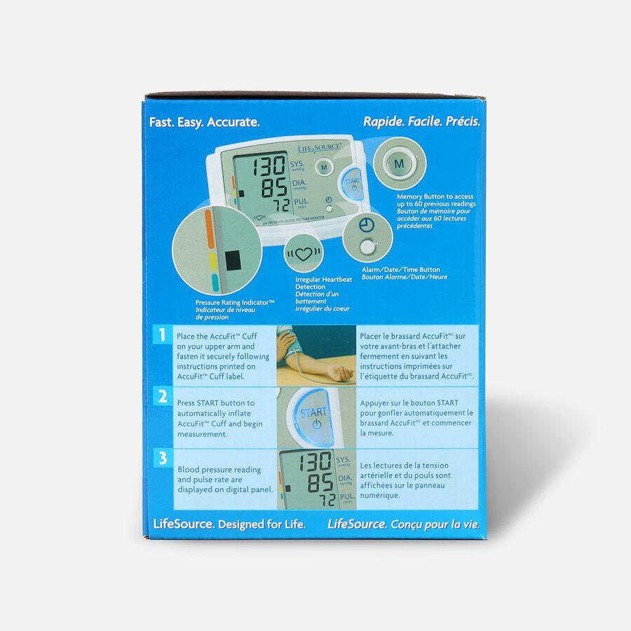 LifeSource UA-789AC Arm Blood Pressure Monitor w/ XL Cuff, , large image number 1