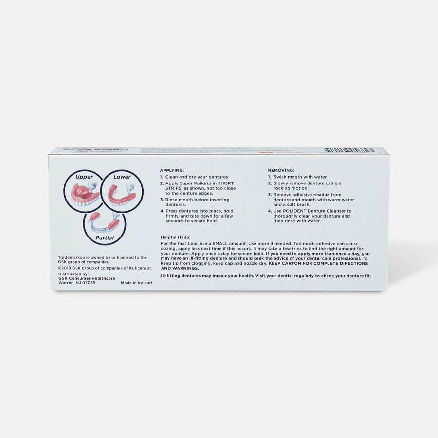 Super Poligrip Extra Care Zinc Free Denture Adhesive Cream - Twin Pack, , large image number 1