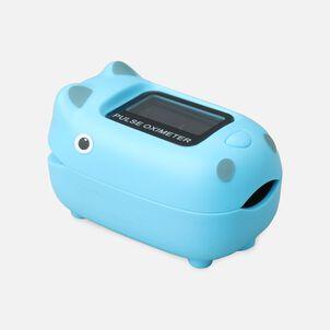 Caring Mill® Pediatric Oximeter-BLUE HIPPO