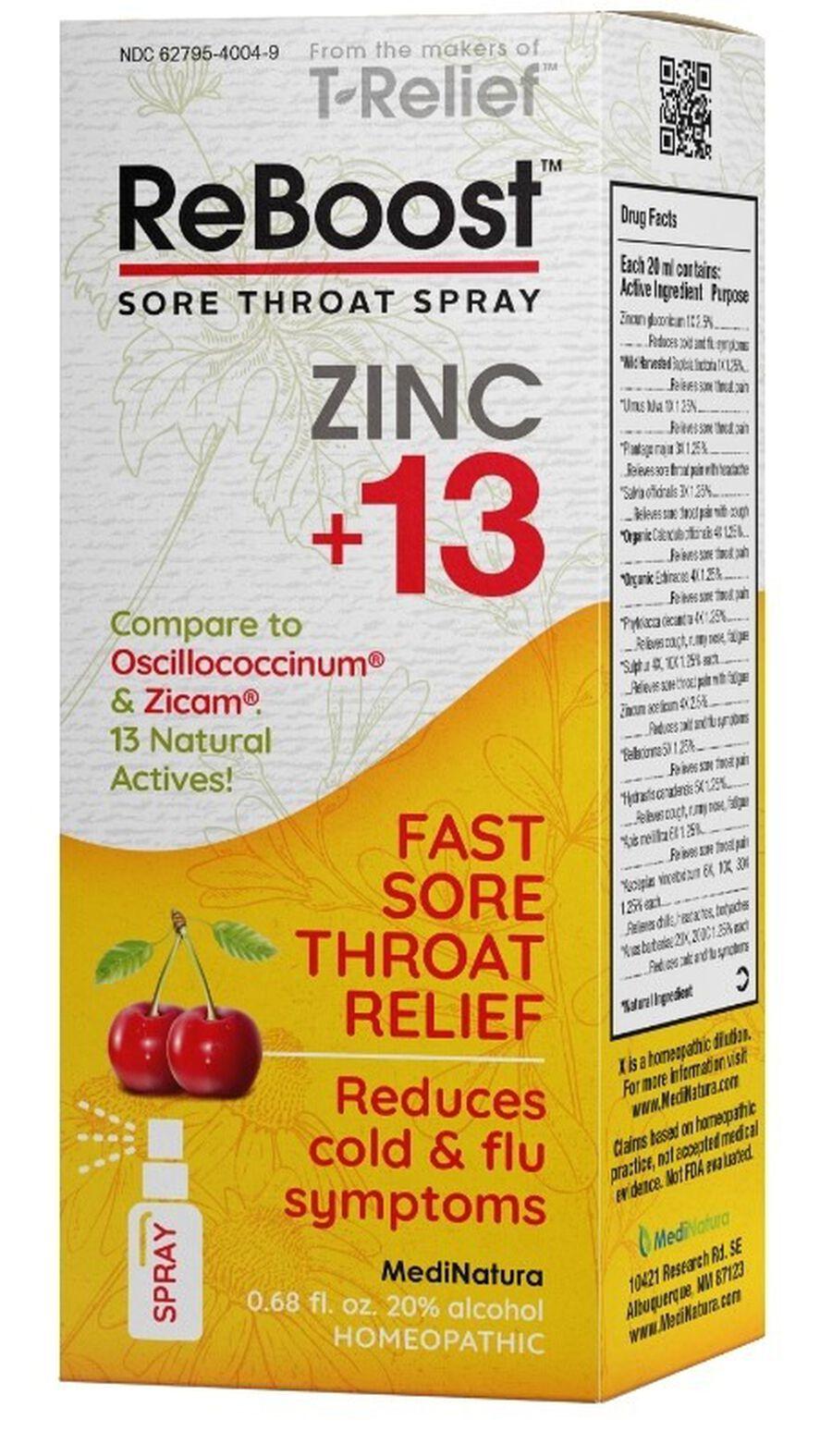 ReBoost Zinc +13 Sore Throat Spray, Cherry, , large image number 1