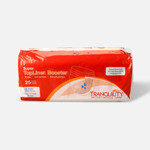 Tranquility TopLiner Super Booster Pad, 25ct