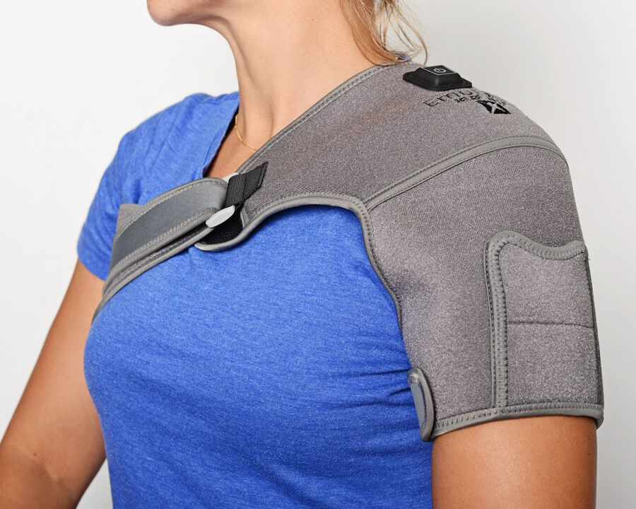 Battle Creek Embrace ™ Relief Shoulder Wrap – Portable, 3 Temperature Settings, Auto Shut Off, Wireless & Rechargeable Wrap, Battery-Operated Heat Therapy Wrap for Rotator Cuff and Shoulder Pain Relief, , large image number 12