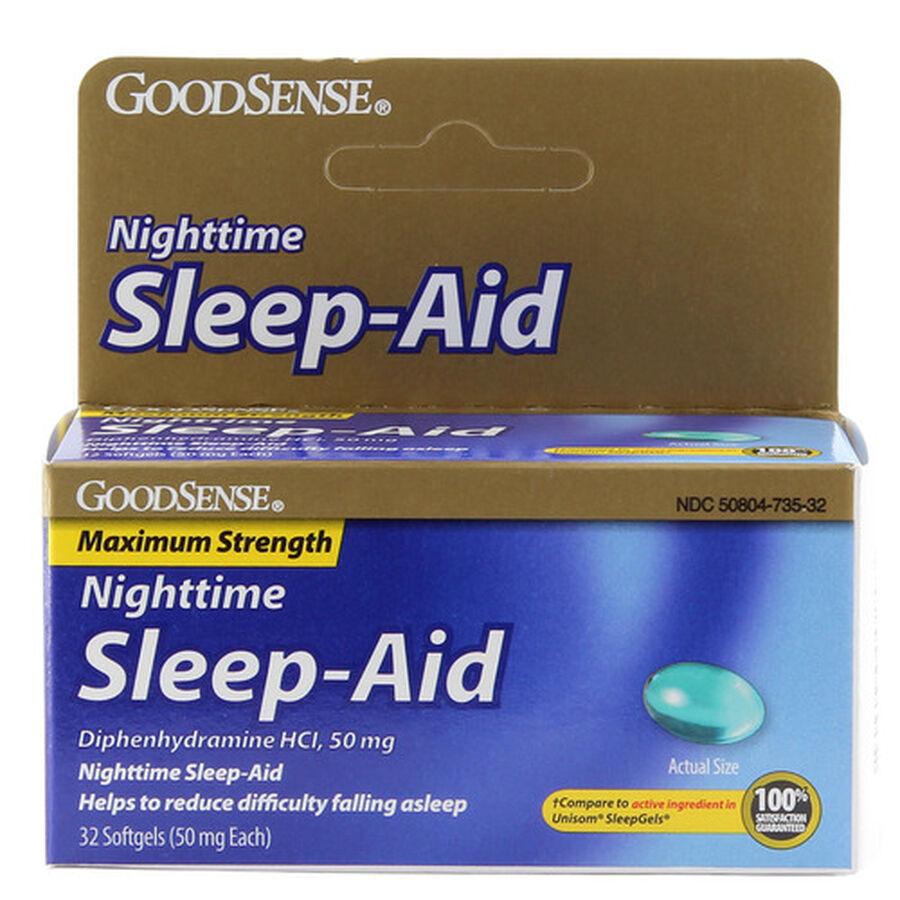 GoodSense® Sleep Aid Maximum Strength Softgel 50 MG , 32 ct, , large image number 0
