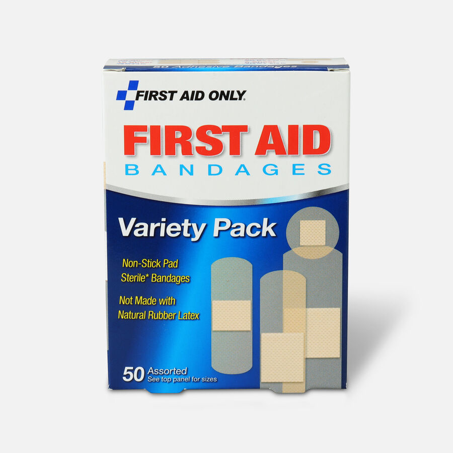 First Aid Only Sheer Strips Bandages, Assorted Sizes - 50ct, , large image number 1