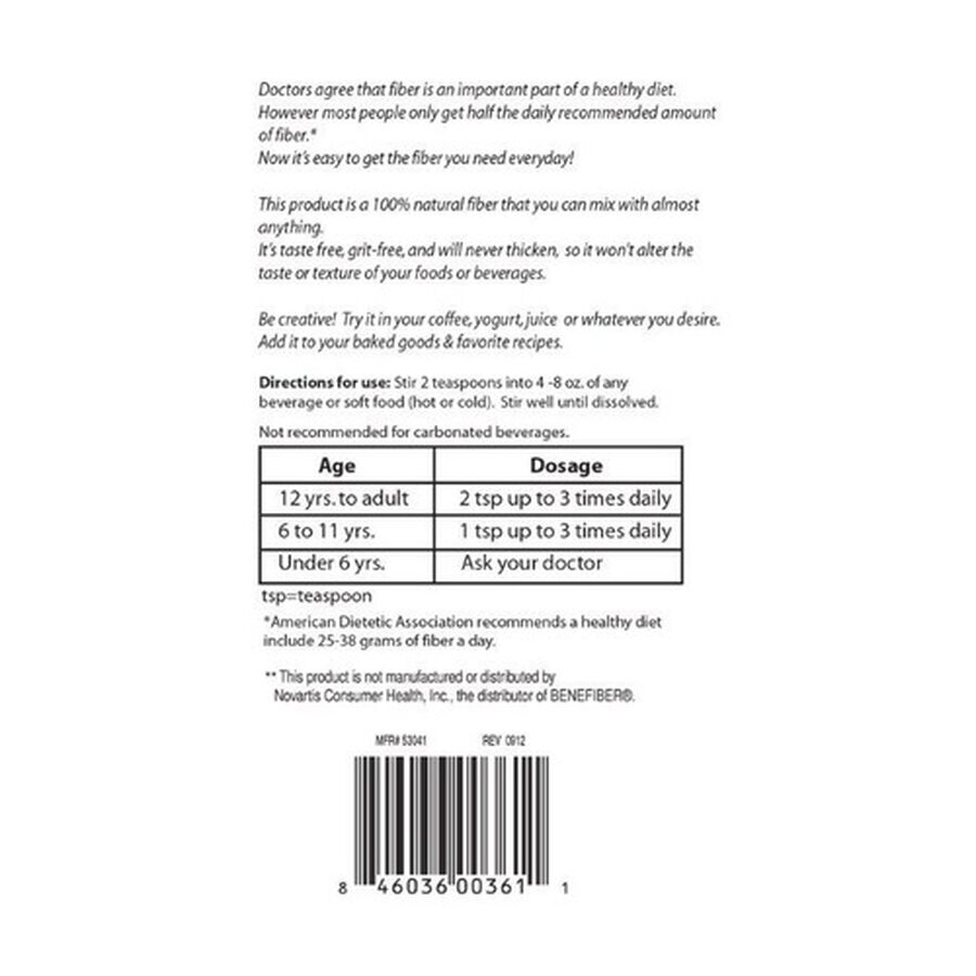GoodSense® Best Fiber Powder Sugar/ Flavor Free 62 Servings, 8.6 oz, , large image number 2