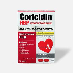 Coricidin HBP Max Strength Multi-Symptom Flu Tablets, 24ct