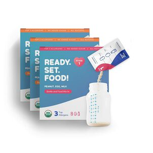 Ready, Set, Food! Early Allergen Introduction System for Babies 4+ Months, Stage 1 and 2, 180 day supply