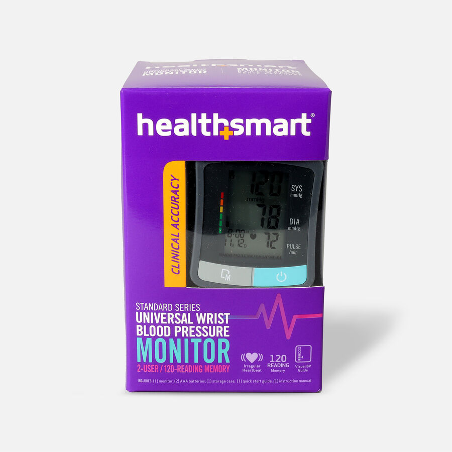 HealthSmart Standard Series LCD Wrist Digital Blood Pressure Monitor, , large image number 0
