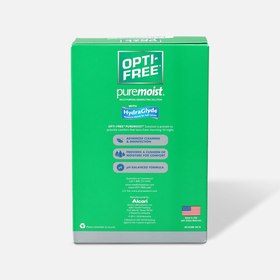 Opti-Free PureMoist Disinfecting Solution 10 fl oz, (Pack of 2), , large image number 1