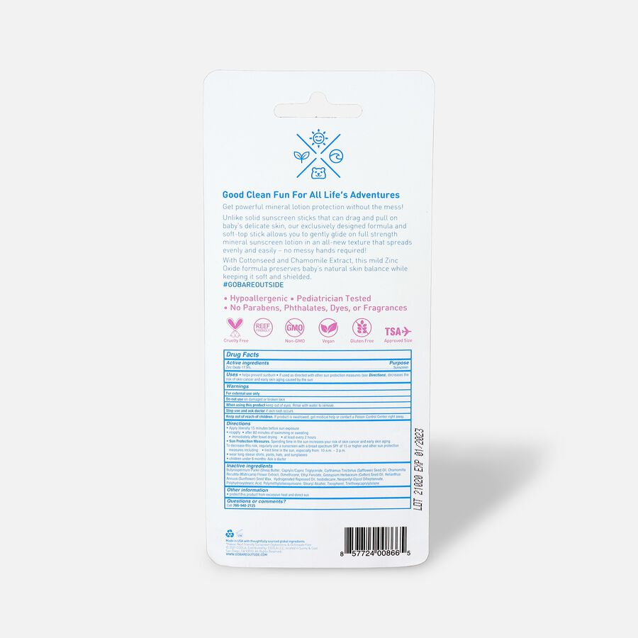 Baby Bare Republic Mineral Soft Sunscreen Stick SPF 50, , large image number 1